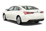Rear three quarter view of a  2013 Toyota Avalon Sedan Limited