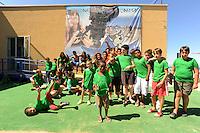 Bellaria Igea Marina; Cinema,gruppo di ragazzi della Colonia Ragazzi e Cinema. Ex colonia Landini