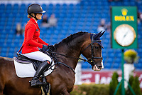 BEL-Lara de Liedekerke-Meier rides Cascanria V during the Jumping for the CCIO4*-S Eventing - SAP Cup. 2021 GER-CHIO Aachen Weltfest des Pferdesports. Aachen, Germany. Friday 17 September. Copyright Photo: Libby Law Photography