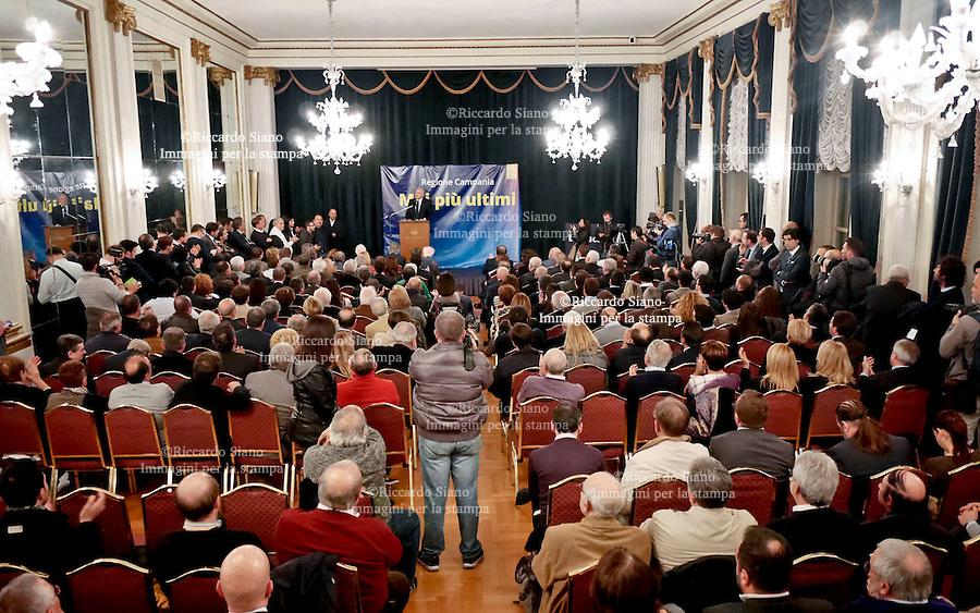 - NAPOLI 24 NOV 2014 - Hotel Excelsior, il sindaco di Salerno, Vincenzo De Luca,  lancia da Napoli la sua candidatura alle primarie per la scelta del candidato del centrosinistra a presidente della Regione Campania.