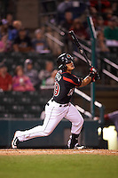 Rochester Red Wings second baseman Tommy Field (59) at bat during a game against the Syracuse Chiefs on July 1, 2016 at Frontier Field in Rochester, New York.  Rochester defeated Syracuse 5-3.  (Mike Janes/Four Seam Images)