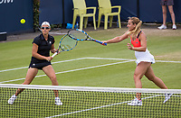 Den Bosch, Netherlands, 17 June, 2017, Tennis, Ricoh Open,  Woman's doubles Final : Dominika Cibulkova (SVK) / Kirsten Flipkens (BEL) (L)<br /> Photo: Henk Koster/tennisimages.com