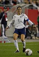 Julie Foudy, USA vs. Norway, in Boston, Ma, 2003 WWC.