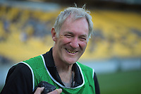 Photographer Mike Moran during the A-League football match between Wellington Phoenix and Melbourne Victory FC at Sky Stadium in Wellington, New Zealand on Sunday, 15 March 2020. Photo: Dave Lintott / lintottphoto.co.nz
