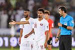 Akram Hassan Afif of Qatar (C) gestures during the AFC Asian Cup UAE 2019 Quarter Finals match between Qatar (QAT) and South Korea (KOR) at Zayed Sports City Stadium  on 25 January 2019 in Abu Dhabi, United Arab Emirates. Photo by Marcio Rodrigo Machado / Power Sport Images
