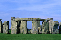close-up abstract of the stones at Stonehenge in England