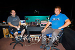 Working behind the scenes at the inaugural Ballybunion Arts Festival in the Tinteán Theatre on Thursday, l to r: Jason Brick and Darren Dillon.