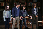 """Talene Monahon, Hugh Dancy, Stockard Channing, Megalyn Echikunwoke and John Tillinger during the Opening Night Curtain Call Bows for the Roundabout Theatre Company production of """"Apologia"""" on October 16, 2018 at the Laura Pels Theatre in New York City."""