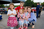 Attending Ryan's Motor Memorial Tractor and Car run in Miltown on Sunday, l to r: Clodagh, Grace, Alex, Molly and Arlene Stevens