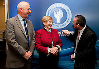 """**** NO FEE PIC***.12/04/2012 .(L to r) Ray McAndrew,Chair of the Commission for the Support of Victims of Crime.Gillian Hussey Chair of Crime Victims Helpline,.David McKenna President of Victim Support Europe.during a conference on the """"The EU Directive on Victims Rights: Opportunities and Challenges for Ireland"""" hosted by the the Irish Council for Civil Liberties (ICCL) in Dublin Castle..Photo: Gareth Chaney Collins"""