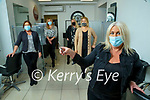 Patricia Duggan, Ashling Carroll, Bett O'Mahony, Mairead Lynch and Killy Lucid Carroll getting ready to reopen the Style Council hairdressers in Ashe Street after being closed for over four months.