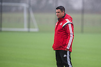 Thursday  21 January 2016<br /> Pictured: <br /> Re: Swansea City Training Session at the Fairwood training ground