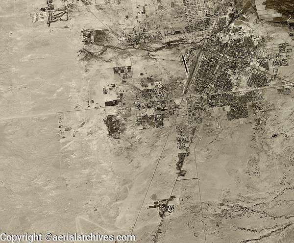historical aerial photograph Las Vegas, Nevada, 1950