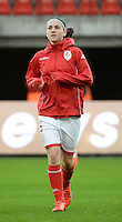 20151007 - LIEGE , BELGIUM : Standard 's Annelies Van Loock pictured during the female soccer match between STANDARD Femina de Liege and 1. FFC Frankfurt , in the 1/16 final ( round of 32 ) first leg in the UEFA Women's Champions League 2015 in stade Maurice Dufrasne - Sclessin in Liege. Wednesday 7 October 2015 . PHOTO DAVID CATRY