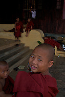 Sleeping Monks at the Inle Lake Monastery,Inle Lake Festival - Inle Lake, Shan State, Myanmar