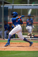 GCL Mets Warren Saunders (11) at bat during a Gulf Coast League game against the GCL Marlins on August 11, 2019 at St. Lucie Sports Complex in St. Lucie, Florida.  GCL Marlins defeated the GCL Mets 3-2 in the second game of a doubleheader.  (Mike Janes/Four Seam Images)