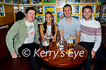Enjoying a social get together in Mike the Pies in Listowel on Friday, l to r: James O'Donnell, Ciara Finucane, Sean Dowling and Sean O'Connell, all from Listowel