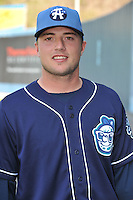 Kyle Parker #8 of the Asheville Tourists poses during media day at McCormick Field on April 4, 2011 in Asheville, North Carolina.  Photo by Tony Farlow / Four Seam Images..