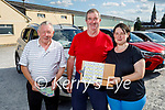 Ready for Drive In bingo in Castleisland on Saturday, l to r: Pat Finnegan, Dan McCarthy (Abbeydorney) and Maire O'Connor (Firies).