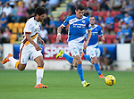 St Johnstone v Bradford City…19.07.16  McDiarmid Park, Perth. Pre-season Friendly<br />Graham Cummins and Nathaniel Knight-Percival<br />Picture by Graeme Hart.<br />Copyright Perthshire Picture Agency<br />Tel: 01738 623350  Mobile: 07990 594431