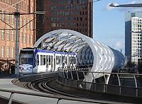 Nederland Den Haag -  maart 2021.  Randstadrail in het Beatrixkwartier.    Foto ANP / Hollandse Hoogte /  Berlinda van Dam