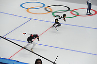 OLYMPIC GAMES: PYEONGCHANG: 18-02-2018, Gangneung Oval, Long Track, 500m Ladies, Brittany Bowe (USA), Erina Kamiya (JPN), ©photo Martin de Jong