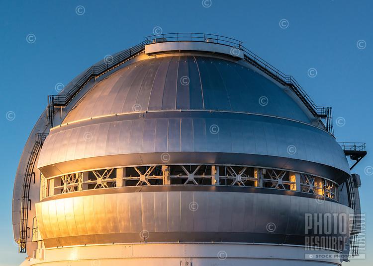 The dome of an observatory on Mauna Kea, Big Island of Hawai'i.