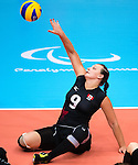 Danielle Ellis, Rio 2016 - Sitting Volleyball // Volleyball assis.<br /> Canada competes against the Netherlands in the Women's Sitting Volleyball Preliminary // Le Canada affronte les Pays-Bas dans le tournoi préliminaire de volleyball assis féminin. 11/09/2016.