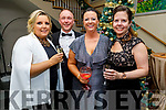 Maire O'Callaghan, Danny and Claire Leen and Jennifer Williams attending the Fenit Lifeboats 25th Anniversary Black Tie Charity Ball in Ballyroe Heights Hotel on Saturday.