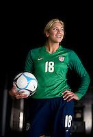 Hope Solo. U.S. Women's National Team portrait photoshoot. June 8, 2007 in Carson, CA.
