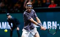 Rotterdam, The Netherlands, 14 Februari 2020, ABNAMRO World Tennis Tournament, Ahoy, <br /> Andrey Rublev (RUS).<br /> Photo: www.tennisimages.com