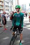 Pierre Rolland (FRA) Team Europcar waits to start the Prologue of the 99th edition of the Tour de France 2012, a 6.4km individual time trial starting in Parc d'Avroy, Liege, Belgium. 30th June 2012.<br /> (Photo by Eoin Clarke/NEWSFILE)