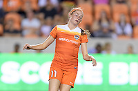 Houston, TX - Sunday Sept. 25, 2016: Janine Beckie during a regular season National Women's Soccer League (NWSL) match between the Houston Dash and the Seattle Reign FC at BBVA Compass Stadium.