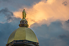 May 26, 2020; Dome at sunset (Photo by Matt Cashore/University of Notre Dame)