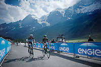 more then 20 minutes after the winner, riders still keep rolling in<br /> <br /> Giro d'Italia 2015<br /> stage 19: Gravellona Toce - Cervinia (236km)