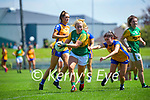 Andrea Murphy, Kerry in action against Orla Devitt, Clare in the Lidl Ladies National Football League Division 2A Round 2 at Austin Stack Park, Tralee on Sunday.