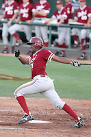 Austin Wilson #30 of the Stanford Cardinal plays against the Arizona State Sun Devils on April 29, 2011 at Packard Stadium, Arizona State University, in Tempe, Arizona. .Photo by:  Bill Mitchell/Four Seam Images.