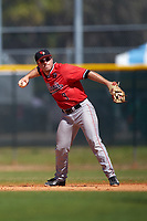 Illinois State Redbirds second baseman Joe Kelch (3) during a game against the Northwestern Wildcats on March 6, 2016 at North Charlotte Regional Park in Port Charlotte, Florida.  Illinois State defeated Northwestern 10-4.  (Mike Janes/Four Seam Images)