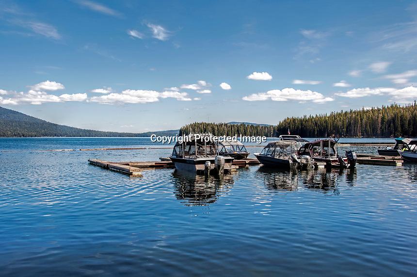 A mid-spring view to the east over Odell Lake, OR.