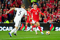 Harry Wilson of Wales in action during the UEFA Euro 2020 Qualifier match between Wales and Azerbaijan at the Cardiff City Stadium in Cardiff, Wales, UK. Friday 06, September 2019