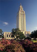 Baton Rouge, State Capitol, Louisiana, State House, LA, Louisiana's State Capitol Building in the capital city of Baton Rouge.