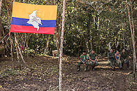 Miembros de las Farc descansan en un campamento en los Llanos del Yari, Meta, Colombia donde se celebro la ultima conferencia de las Farc como grupo armado.Colombian lefstis guerrillas FARC in their main capment in the Yari Plain, where they decided to sign the Peace Treaty with the government of Jose Manuel Santos in Cartagena.Colombia, ending more thant 50 years of war in the south american nation. <br /> The significance of the deal can't be overstated: Colombia's five-decade conflict, partly fueled by the nation's cocaine trade, has killed more than 220,000 people and driven 8 million from their homes.