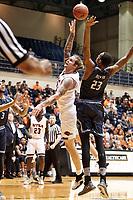 SAN ANTONIO, TX - FEBRUARY 28, 2019: The University of Texas at San Antonio Roadrunners fall to the Old Dominion University Monarchs 65-64 at the UTSA Convocation Center. (Photo by Jeff Huehn)