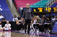 GREENSBORO, NC - MARCH 05: Head coach Nell Fortner of Georgia Tech during a game between Pitt and Georgia Tech at Greensboro Coliseum on March 05, 2020 in Greensboro, North Carolina.
