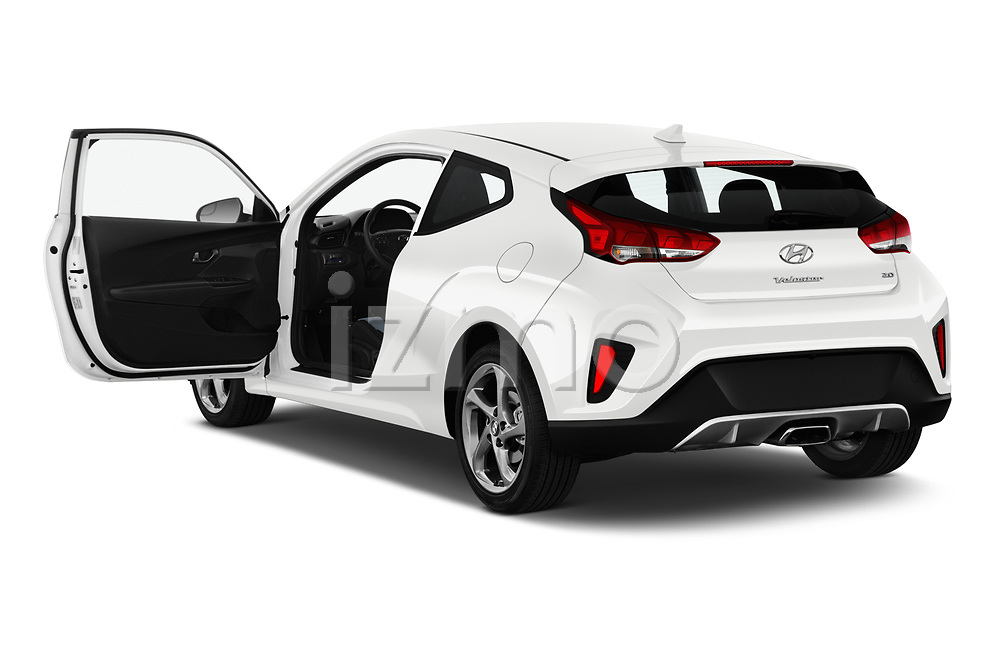 Car images close up view of a 2019 Hyundai Veloster Base 3 Door Hatchback doors