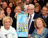 Pictured: Robert Francis-Davies (TOP R) with colleagues minutes before the announcement at the Hyst in Swansea, Wales, UK. Thursday 07 December 2017<br />Re: Coventry has been chosen to be the UK's City of Culture for 2021.<br />The other places in the running for the title were Swansea, Paisley, Stoke-on-Trent and Sunderland.