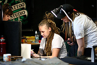 during the Annual Christchurch International Tattoo Expo on January 26, 2019 in Christchurch, New Zealand. . (Photo by Dianne Manson)