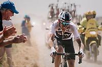 Luke Rowe (GBR/SKY) on pavé sector #6<br /> <br /> Stage 9: Arras Citadelle > Roubaix (154km)<br /> <br /> 105th Tour de France 2018<br /> ©kramon