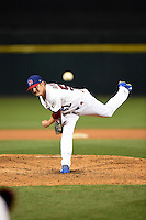 Buffalo Bisons pitcher Rob Rasmussen (58) delivers a pitch during a game against the Gwinnett Braves on May 13, 2014 at Coca-Cola Field in Buffalo, New  York.  Gwinnett defeated Buffalo 3-2.  (Mike Janes/Four Seam Images)