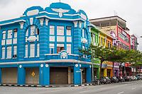 Ipoh, Malaysia.  Jalan Sultan Idris Shah Street Scene and Local Architecture.